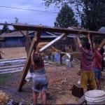 barn raising for little house